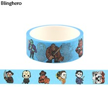 Blinghero Michael Myers Tape 15 Mm X 5 M Killer Washi Tape Horror Afplakband Cartoon Zelfklevende Tapes Label Tape sticker Gift BH0468(China)