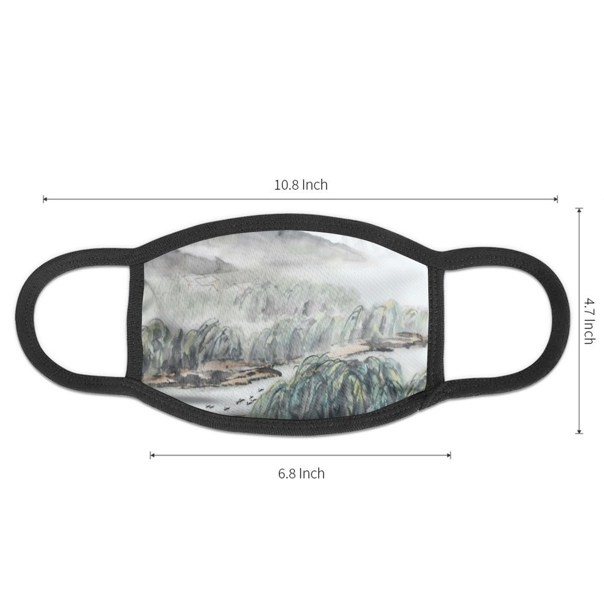 NOISYDESIGNS Chinese Wind Painting Face Mask National Style Pattern Anti-bacterial Unisex Dust Winter Warm Mouth Mask Hot Sale