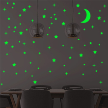 creative stars moon luminous wall decals bedroom home decor green fluorescent wall stickers glow in the dark wallpaper non woven luminous wallpaper roll stars and the moon boys and girls children s room bedroom ceiling fluorescent wallpaper decor