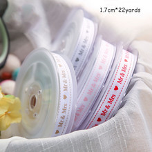 1.7cm  English Silk Ribbon Gift Flowers Packaging DIY Bow Decoration Material