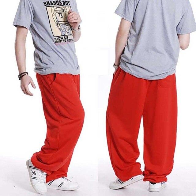 Fashion Hip Hop Streetwear Harem Pants Men Sweatpants Loose Baggy Joggers Track Pants Cotton Casual Trousers Male Clothes 4