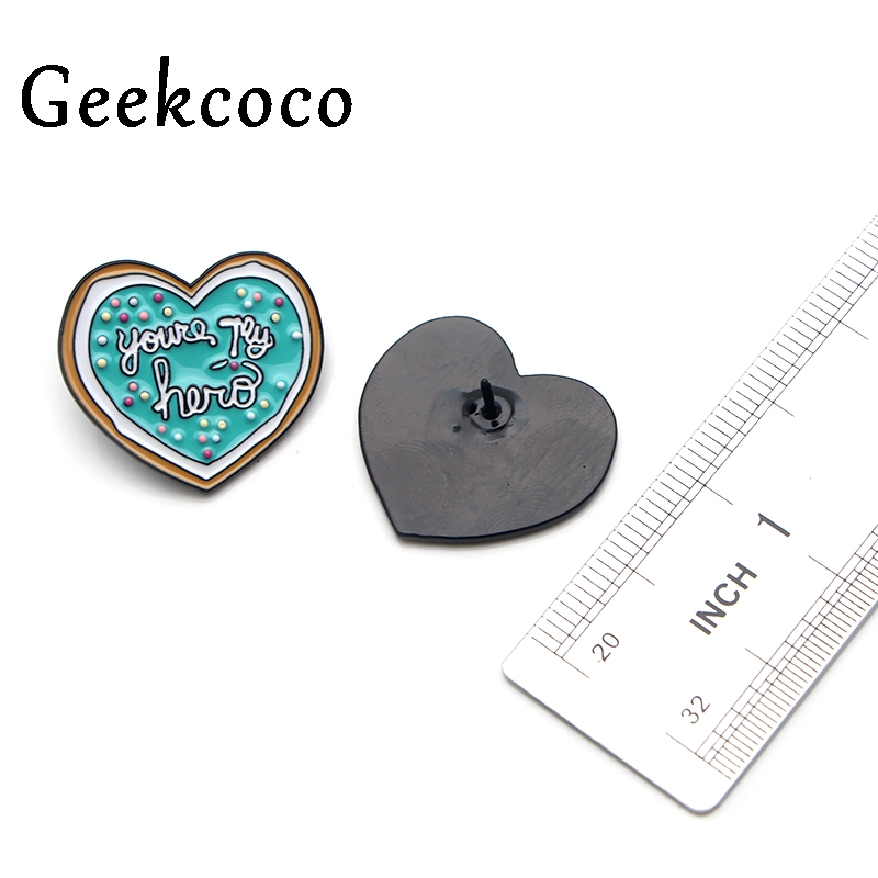 Heart shape Brooches kawaii simple pattern diy Zinc Alloy pins metalicos para ropa backpack clothes men women decoration J0156 in Brooches from Jewelry Accessories
