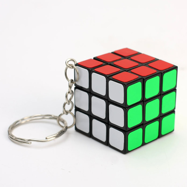 cheapest 3x3x3 ZCUBE Mini 3rd order Keychain Magic Cubing Speed  Puzzle Educational Toy For Children Kids 3