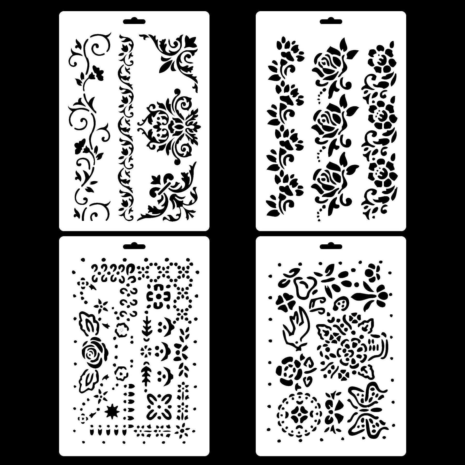 Vintage Flower Vine  Layering Stencils For DIY Scrapbooking/photo Album Decorative Embossing DIY Paper Cards Crafts
