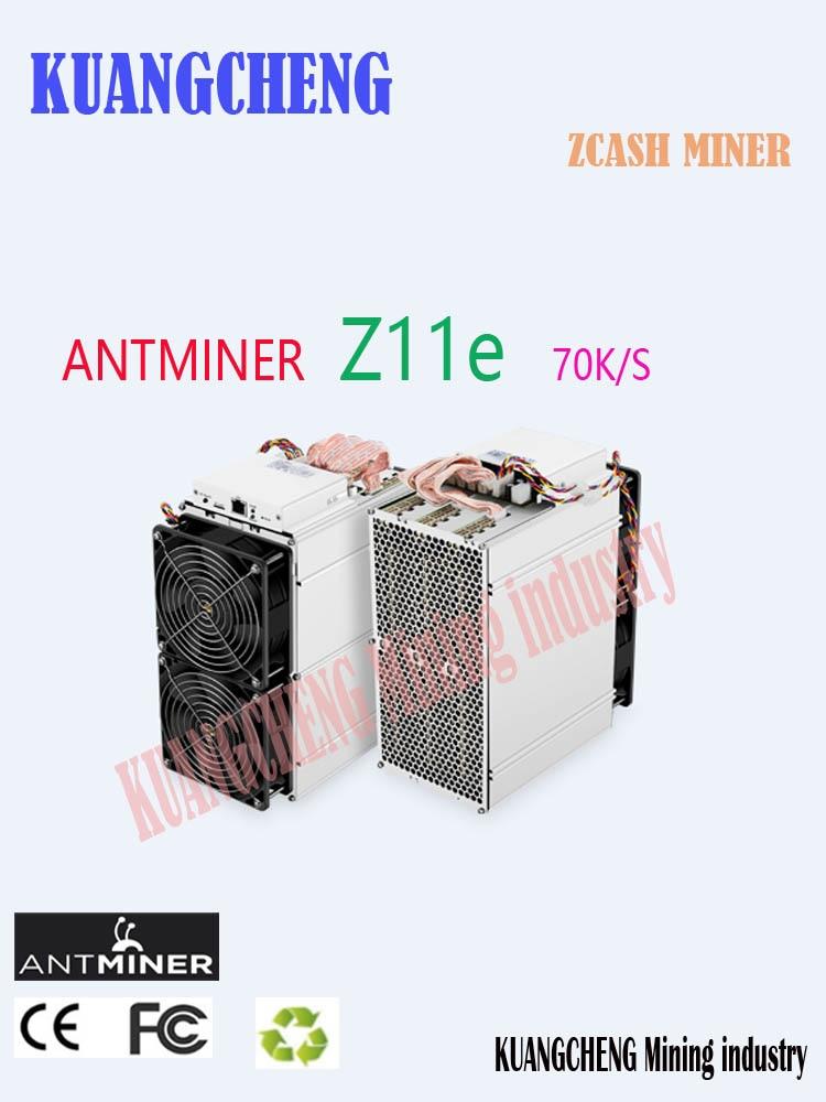 Asic Equihash Miner Antminer Z11e 70k Sol/s ZCASH Miner ZEC ZEN Better Than Innosilicon A9 Antminer S9 S11 S15 S17 Z9 Z11