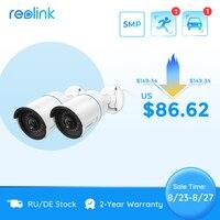 Reolink Smart Sicherheit Kamera 5MP Outdoor Infrarot Nachtsicht Cam Besondere mit Menschlichen/Auto Erkennung RLC-510A[2Pack]