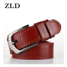 ZLD кожаный мужской ремень Классический пряжкой Новая мода современный молодежный дизайн мужской ремень роскошный бизнес брюки высокое качество подарок