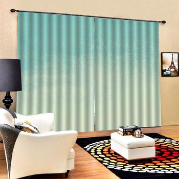 Drapes Cortinas Luxury Blackout 3D Window Curtains For Living Room Bedroom green curtains
