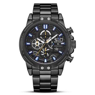 Watch Men Fashion Sport Quartz Clock Mens Watches Top Brand Luxury LED Digital Waterproof Shockproof Black Wrist Watch in Quartz Watches from Watches