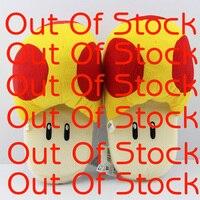 """Freies Verschiffen Super Mario Bros Gold Pilz Plüsch Hausschuhe Erwachsene Innen Warme Hausschuhe 11 """"28cm Einzelhandel 1 Paar-in Filme und TV aus Spielzeug und Hobbys bei"""