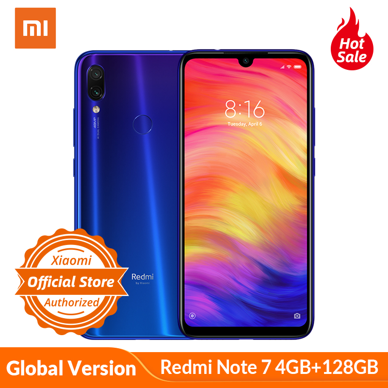 Global Version Xiaomi Redmi Note 7 4GB 128GB Note7 Snapdragon 660 48MP Dual Camera 6.3'' Full Screen Mobile Phone 4000mAh CE FCC