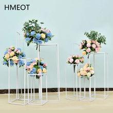 Fer forgé géométrie Guide routier fleur support mariage Bouquet étagère accessoires Table centres de Table fleur artificielle boule décoration
