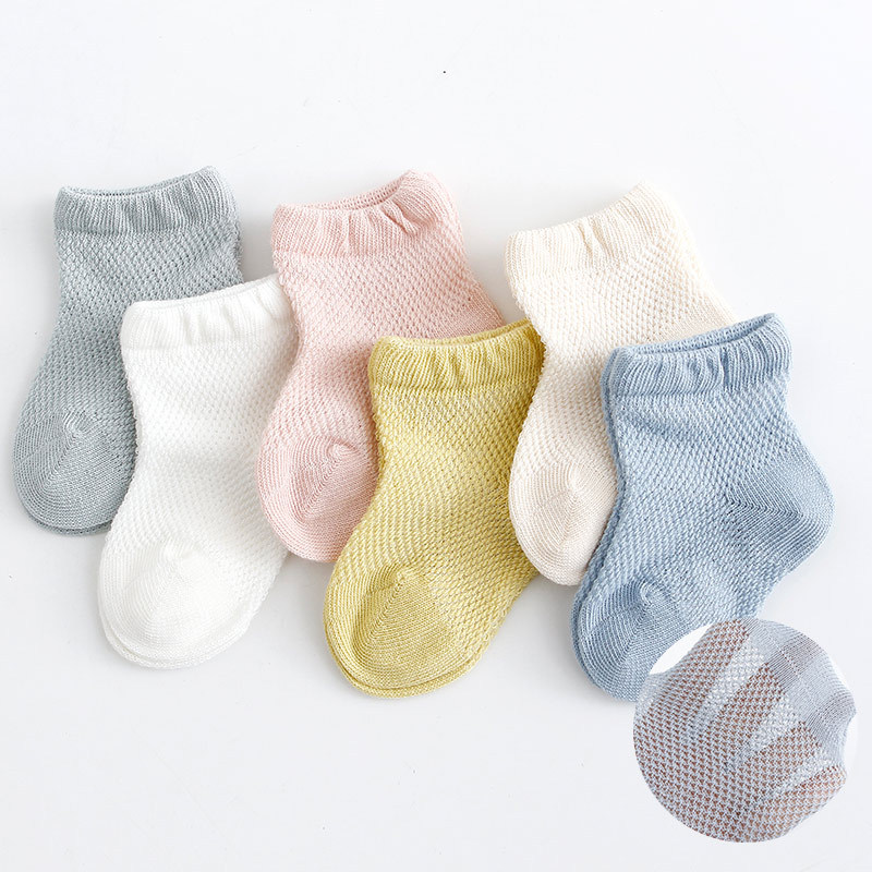Infant Baby Socks Summer Mesh Thin Baby Socks For Girls Cotton Newborn Boy Toddler Socks Baby Clothes Accessories