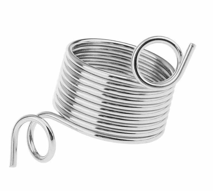 2 Size Ring Type Knitting Tools Finger Wear Thimble Yarn Spring Guides Stainless Steel Needle Thimble Sewing Accessories