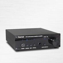 купить USB fiber coaxial audio decoder ES9018 Fever DAC decoding amp DSD full balance decoding switch 32bit 384K дешево