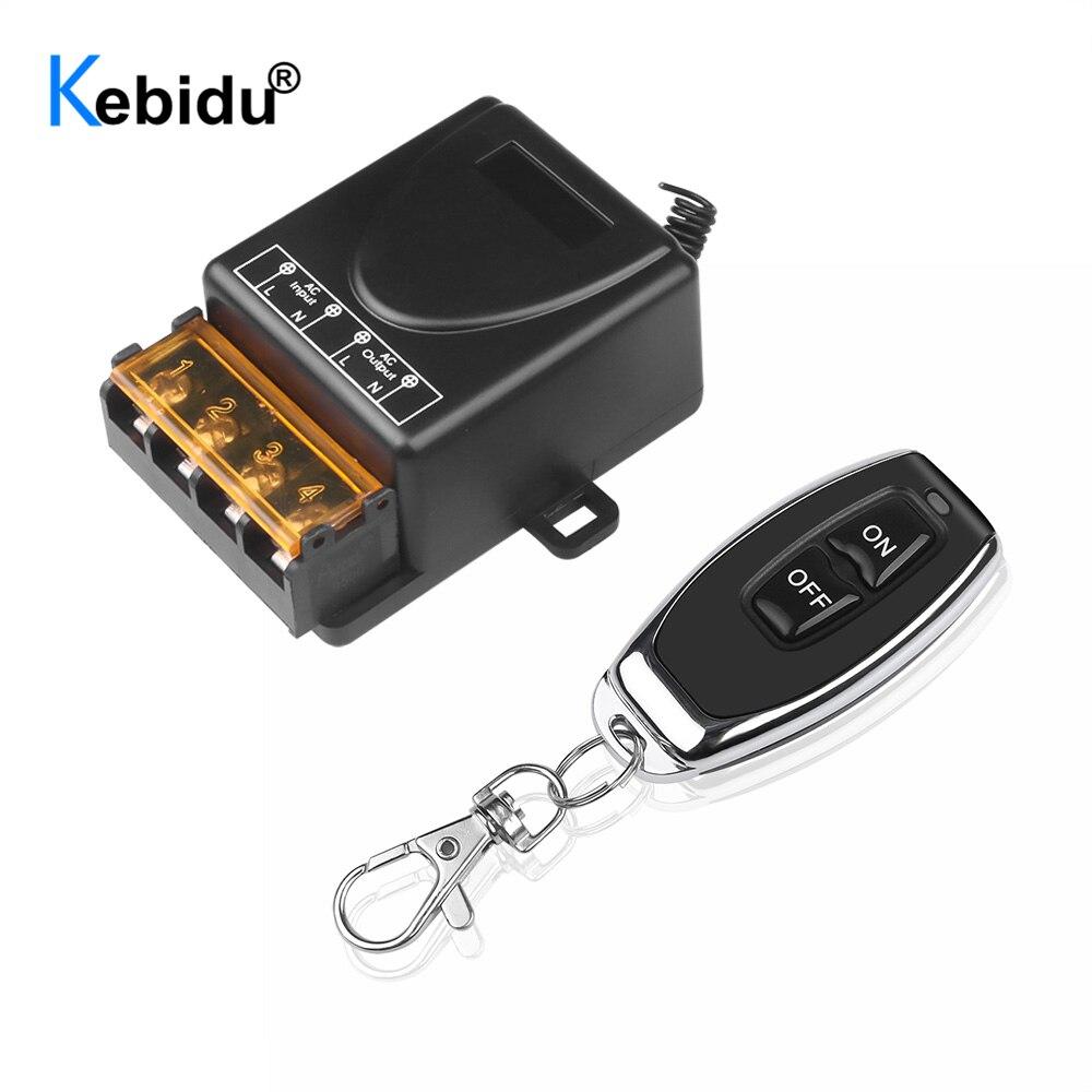 Kebidu-relé inalámbrico RF inteligente, transmisor interruptor con mando a distancia + receptor 110 MHz, 240V, 433 V, 30A