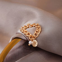 2020 модные золотистые и серебристые кольца на толстой цепочке
