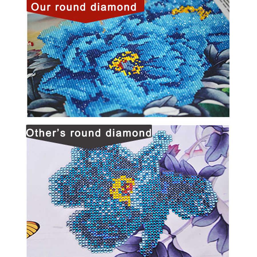 2020 puente MEIAN 5D DIY bordado de diamantes cuadro de diamantes de rótterno cuadro de punto de cruz mosaico de diamantes de imitación cuadrado completo decoración del hogar