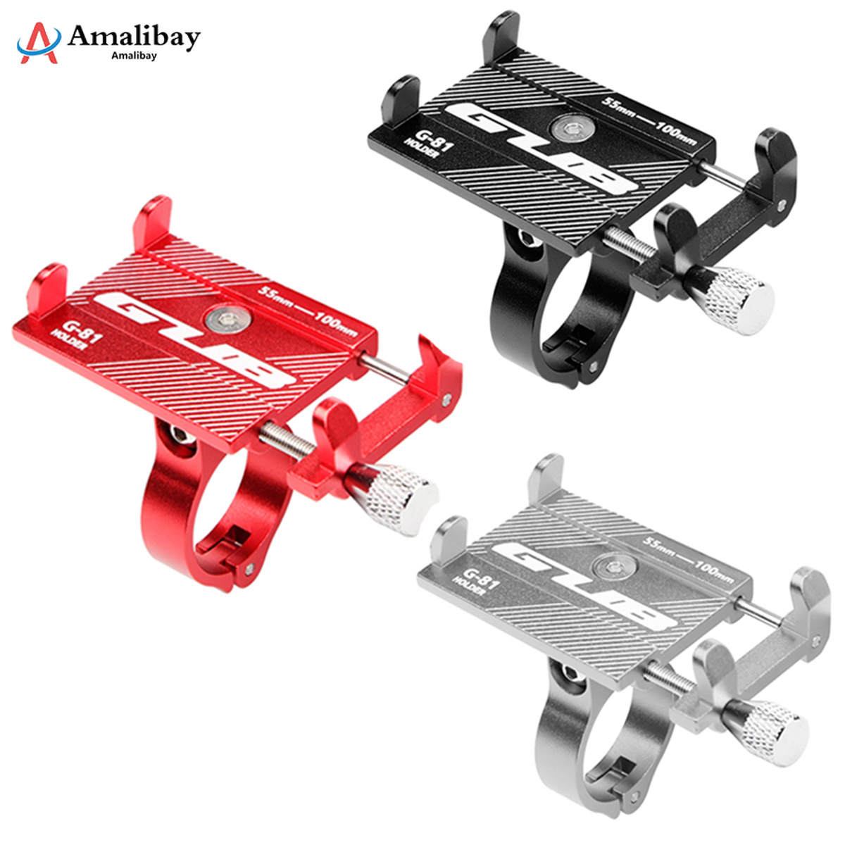 Adjustable Anti-Slip Mobile Phone Stand Holder for <font><b>Xiaomi</b></font> <font><b>M365</b></font> <font><b>Pro</b></font> <font><b>Electric</b></font> <font><b>Scooter</b></font> Qicycle EF1 Handlebar Mount Bracket Rack image