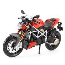 Maisto 1:12 мод. Streetfighter S Red Die Cast, Коллекционная модель мотоцикла, игрушки
