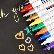 Çok renkler araba boya kalemi grafiti boya kalemi yüksek kaliteli yağlı kalem lastik dokunmatik Up Graffiti işareti kalem G0971 İmza lastik