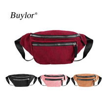 Buylor Belt Bag Women Corduroy Waist Pack Designer Zipper Chest Bag Festival Fanny Pack Fashion Bum Bag Phone Pouch Travel sansarya belt bag boho bohemian vintage fanny pack for women cute festival hippie ladies waist bag tribal aztec girls bum bag