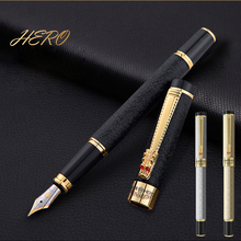 Free Shipping New Arrival Brand Hero Fountain Pen Dragon Clip Metal Student Ink Writing Pen Buy 2 Pens Send Gift 1pcs lot england morejoy brand mj 500 fountain pen practice and writing for student free shipping