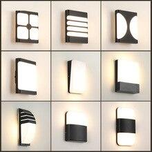 Artpad Black Outdoor Lighting Waterprffo IP65 Modern Garden Wall Lamp 9 Types Villa Balcony Porch Bright Sconces