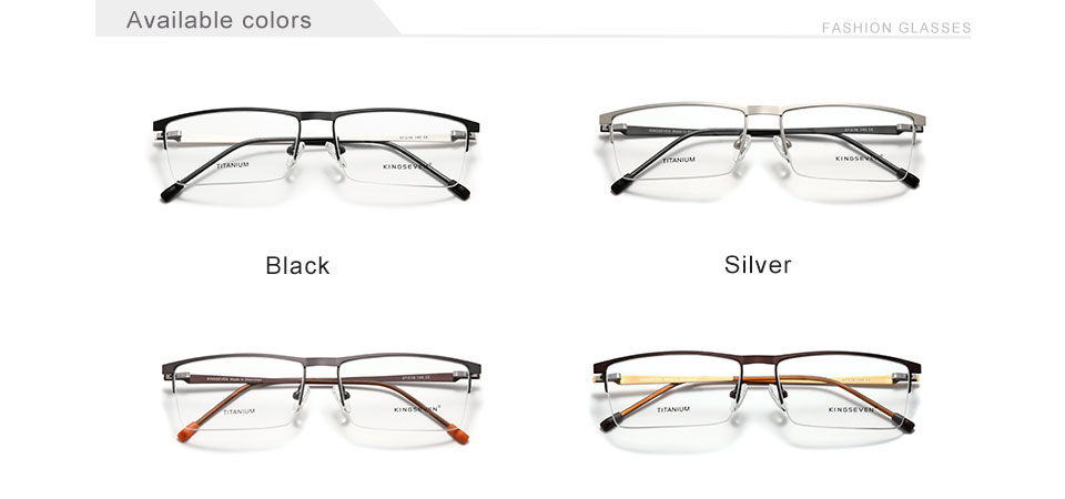 KINGSEVEN 2020 Titanium Alloy Optical Glasses Frame Men 2020 Square Myopia Prescription Eyeglasses Male Metal Eyewear