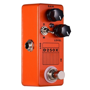 Mosky D250X Mini Overdrive Preamp Guitar Effect Pedal with True Bypass Switch mooer mini classic optical electric compressor effect pedal yellow comp true bypass with smooth attack and decay sound