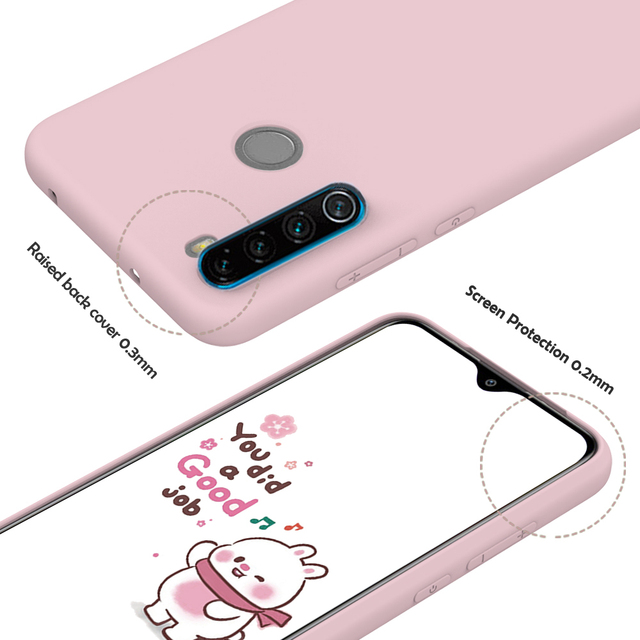 Candy Solid Color Soft Silicone Case For Xiaomi Redmi Note 8T 8 7 7A 6 6A 5 Pro Soft TPU Matte Phone Cover For Redmi Note 9 9S 3
