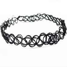 JINSE New Vintage Stretch Tattoo Choker Necklace Gothic Punk Grunge Henna Elastic with Pendant Necklaces NEC050