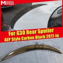 цена на G30 Spoiler Real Carbon Fiber Trunk Spoiler Wing For BMW 5 Series 520i 530i 535i 540i 540iXD P Style Gloss Black Spoiler 2017-in
