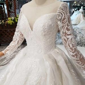 Image 5 - BGW HT562 europejski styl suknie ślubne z długim pociągiem Lace Up powrót luksusowa suknia ślubna 2020 New Fashion Design