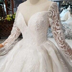Image 5 - BGW HT562 vestidos de boda de estilo europeo con tren largo con encaje trasero vestido de boda de lujo 2020 nuevo diseño de moda