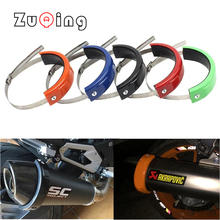Universal Motorcycle Exhaust Protector 100mm-140mm Oval Can Cover Round Exhaust Guard Cover