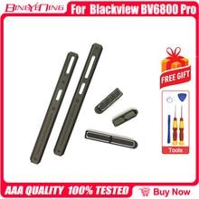 جديد الأصلي اليسار واليمين الزخرفية قطع قوة حجم زر ل Blackview BV6800 برو غطاء البطارية الديكور المعادن أجزاء