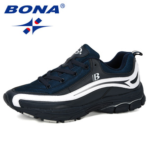Image 4 - بونا جديد مصمم الاتجاه احذية الجري الرجال رياضية عالية الجودة في الهواء الطلق الدانتيل متابعة أحذية للمشي Zapatillas Hombre مريحة