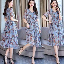 Женское платье женское шифоновое с цветочным рисунком новое