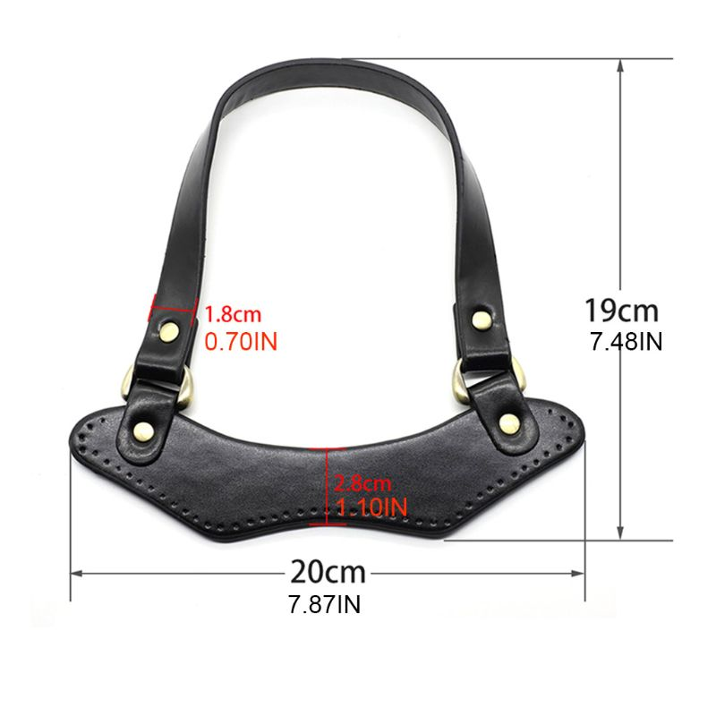 PU Leather Handbag Top Handle Strap for DIY Handmade Woven Bag Parts Accessories Fashion New