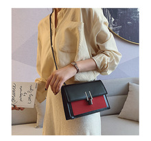 Panelled Flap PU Leather Patchwork Shoulder Bag Easy Match Street Crossbody