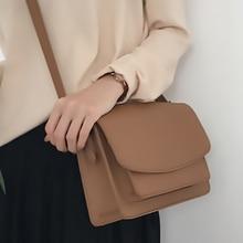 Vintage PU Leather Flap Crossbody Bags for Women 2020 Messenger Shoulder Bags Ladies Bag Female Solid Cover Fashion Bag