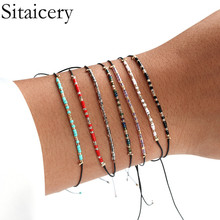 Sitaicery Bohemian Style Charm Colorful Beads Bracelets For Women Boho Multilayer Crystal Seed Bead Bracelet  Jewelry Party Gift