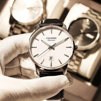 CADISEN Mechanical Watch Men Top Brand Luxury Luminous Stainless steel Business Wrist Men Automatic Watches NH35A Japan movement 2