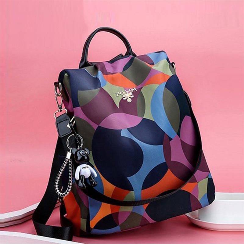 High Quality Waterproof Oxford Women Backpack Fashion Anti-theft Women Backpacks Teenage Girls School Bag Sac A Dos Mochila