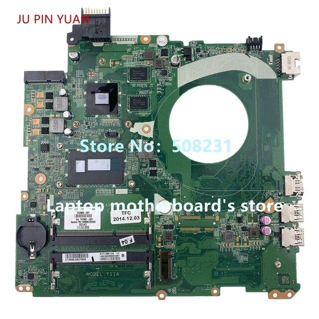 Hp envy 15 k 15t k 노트북 마더 보드 용 ju pin yuan 763588 001 763588 501 840 m 2 gb i5 4210U day11amb6e0 100% 완전 테스트 됨
