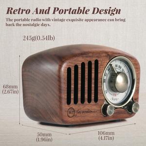 Image 5 - PRUNUS J 919 Klassische retro radio empfänger tragbare mini Holz FM SD MP3 Radio stereo Bluetooth Lautsprecher AUX USB Aufladbare