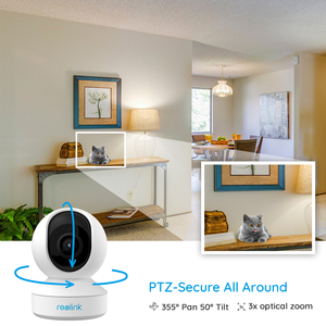 Image 4 - Reolink 5MP PTZ אבטחת בית מצלמה wifi 2.4G/5G 3x אופטי זום פאן/הטיה 2 דרך אודיו מקורה SD כרטיס חריץ מרחוק גישה E1 זום