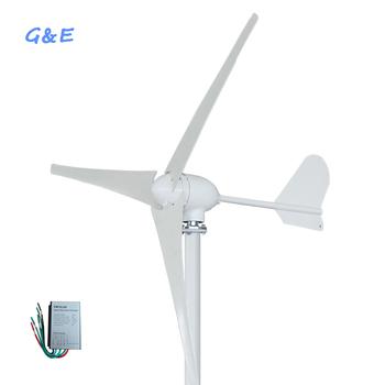 HAWT 500W wiatr Generator z turbiną z kontrolerem tanie i dobre opinie GE-500W1 Generator energii wiatru Bez Podstawy Montażowej 12v 24v 48v 2 5m s 11m s 1 55m 1 35m 3 5 6 Nylon fiber Three phase permanent magnet AC synchronous generator