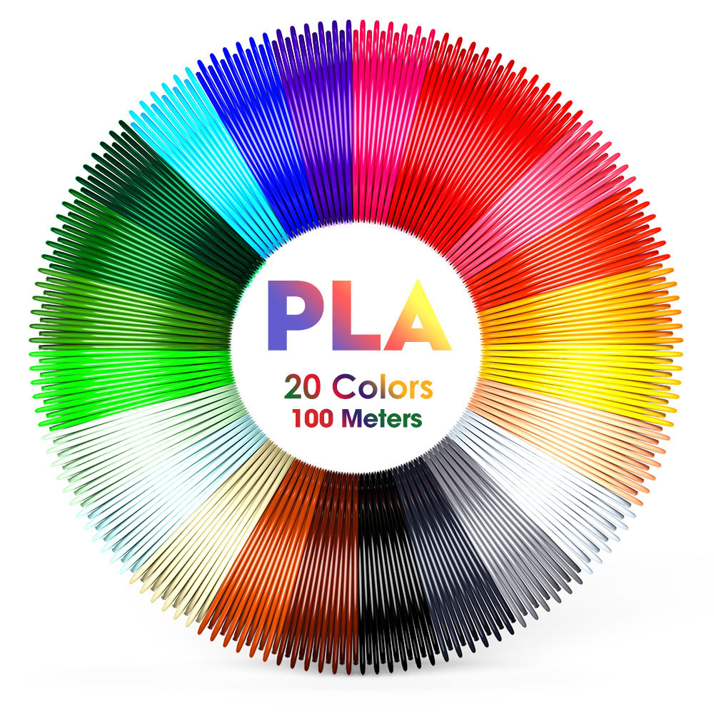 eSUN PLA Plus PETG TPU 1.75mm Filament samples Printing Materials Plastic For 3D Printer Extruder Pen Accessories 5m 20m 100m